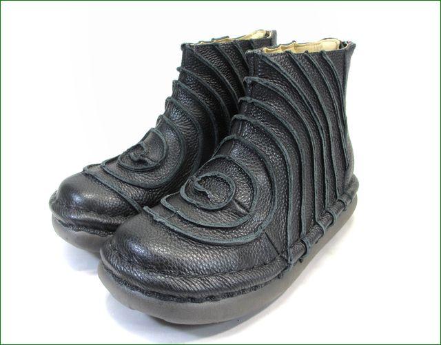 エスタシオン靴 estacion et340bl  ブラック 全体画像