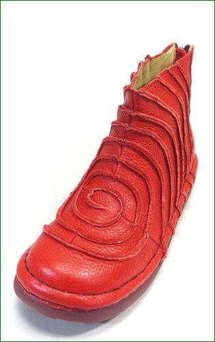 エスタシオン靴 estacion et340re  レッド 左画像