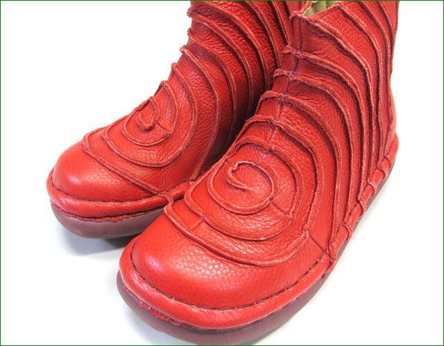 エスタシオン靴 estacion et340re  レッド アップ画像