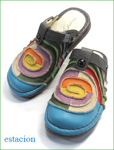 エスタシオン靴  estacion  et34bu ブルー 全体画像