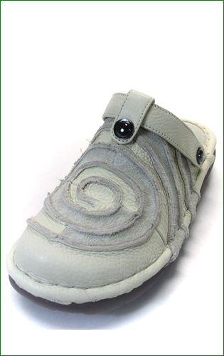 エスタシオン靴  estacion  et34iv アイボリー 左の画像