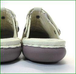 エスタシオン靴  estacion  et34iv アイボリー 後ろからの画像
