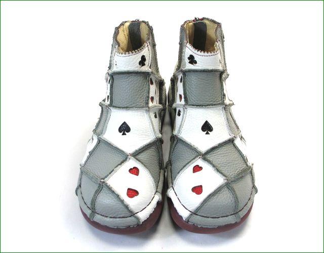 エスタシオン靴 estacion et352gyiv   グレイアイボリー 正面の画像