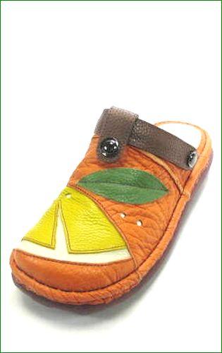 エスタシオン靴  estacion  et360or オレンジコンビ 左画像