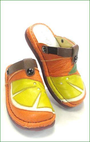 エスタシオン靴  estacion  et360or オレンジコンビ 右画像