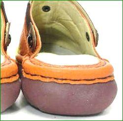 エスタシオン靴  estacion  et360or オレンジコンビ 後ろ画像