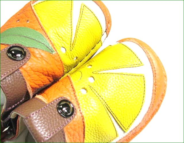 エスタシオン靴  estacion  et360or オレンジコンビ アップ画像