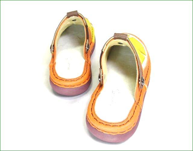 エスタシオン靴  estacion  et360or オレンジコンビ 部分画像