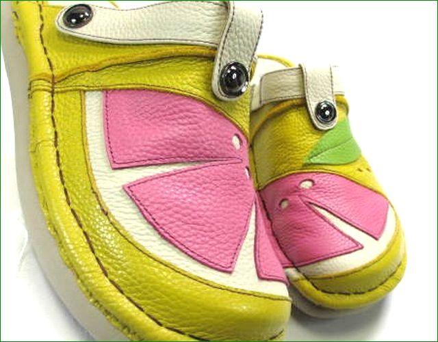 エスタシオン靴  estacion  et360ye イエローコンビ アップ画像
