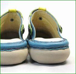 エスタシオン靴  estacion  et362bu ブル―コンビ 後ろ画像