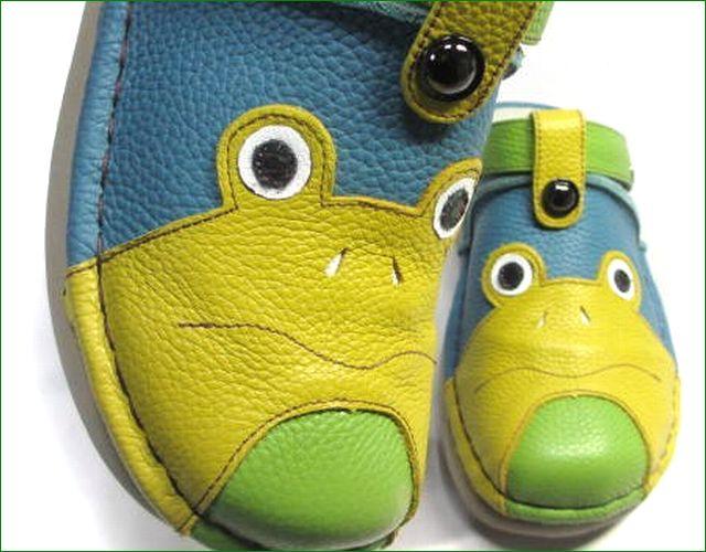 エスタシオン靴  estacion  et362bu ブル―コンビ アップ画像