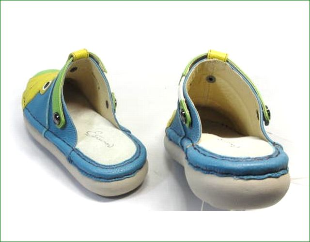 エスタシオン靴  estacion  et362bu ブル―コンビ 部分画像
