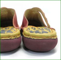 エスタシオン靴  estacion  et385spk サーモンピンク 後ろ画像