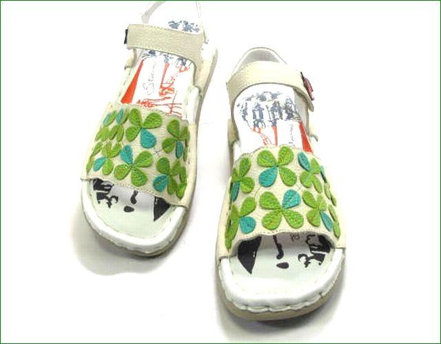 エスタシオン靴  estacion  et387iv アイボリー 部分画像