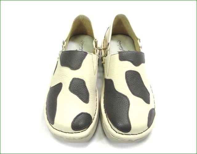 エスタシオン靴  estacion  et398iv アイボリー アップ画像