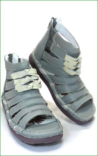 エスタシオン靴 estacion  et405gy グレイ  右側の画像
