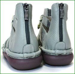 エスタシオン靴 estacion   et405gy グレイ  カカトの画像