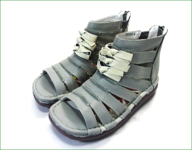 エスタシオン靴 estacion  et405gy グレイ  全体の画像