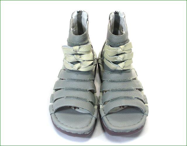 エスタシオン靴 estacion   et405gy グレイ  正面の画像