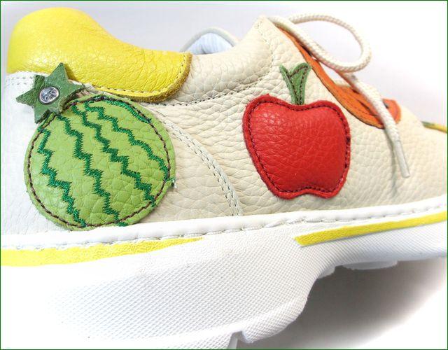 エスタシオン靴 estacion et521iv  アイボリー アップ画像