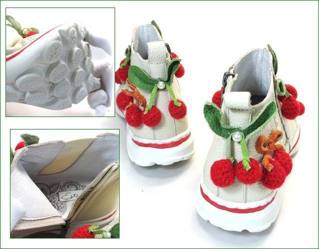 エスタシオン靴 estacion et528iv  アイボリー パーツ画像
