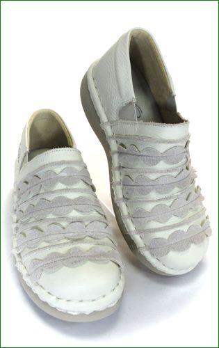 エスタシオン靴  estacion  et52iv アイボリー 右画像