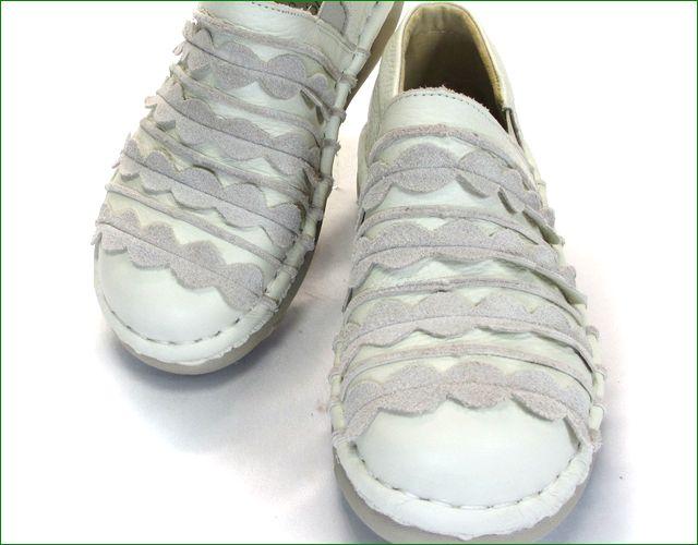 エスタシオン靴  estacion  et52iv アイボリー アップ画像