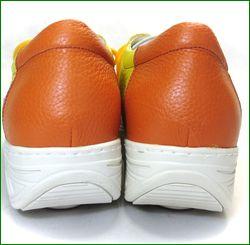 エスタシオン靴 estacion et707ye  イエロー かかと画像