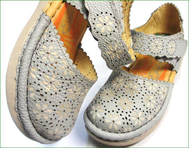 エスタシオン靴 estacion et74gy グレイ アップ画像