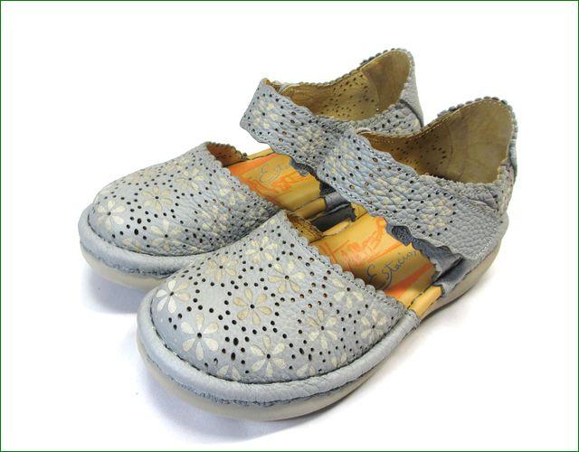 エスタシオン靴 estacion  et74gy グレイ 全体の画像