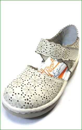 エスタシオン靴 estacion  et74iv アイボリー 左靴の画像