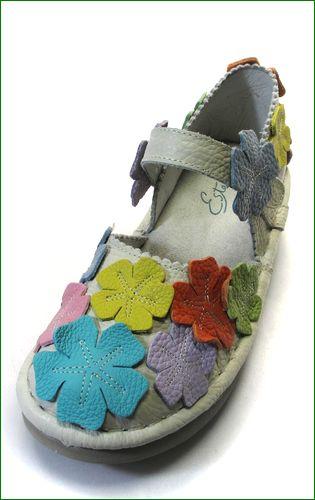 エスタシオン靴 estacion  et78mt アイボリーマルチ 左靴の画像
