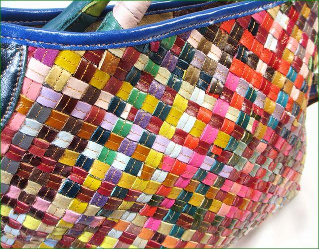 エスタシオン鞄のメッシュのアップ画像