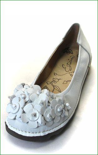 エスタシオン靴  estacion etn13681iv アイボリー 左靴の画像