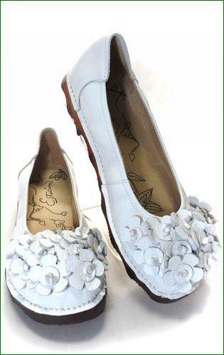 エスタシオン靴  estacion etn13681iv アイボリー 全体の画像