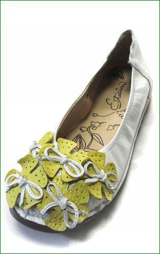 エスタシオン靴  estacion etn13682iv アイボリー 左靴の画像