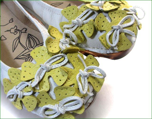 エスタシオン靴  estacion etn13682iv アイボリー 小花アップ画像