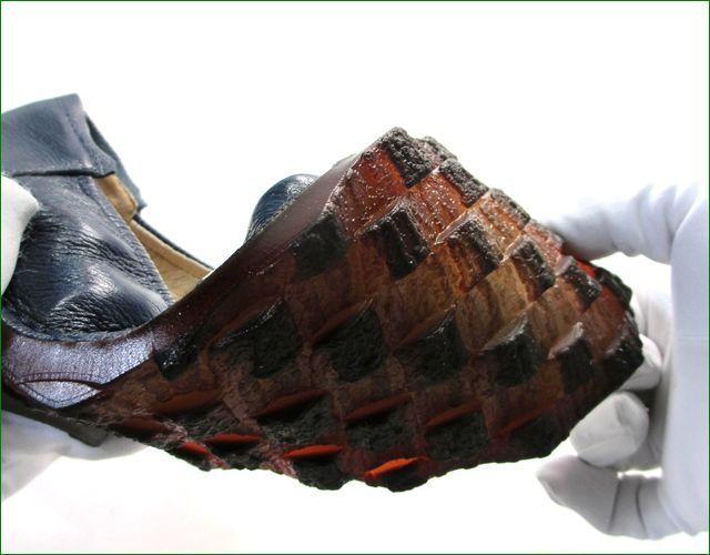 エスタシオン靴  estacion etn13682nv ネイビー 後ろ画像