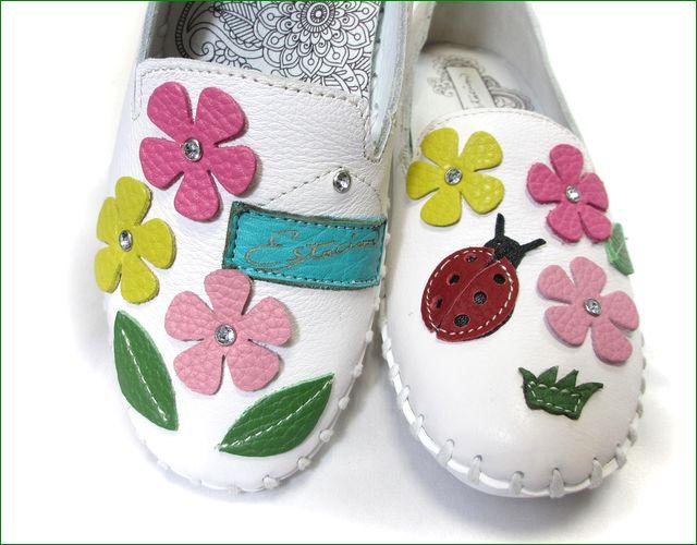 エスタシオン靴  estacion etn208wt ホワイト アップ画像