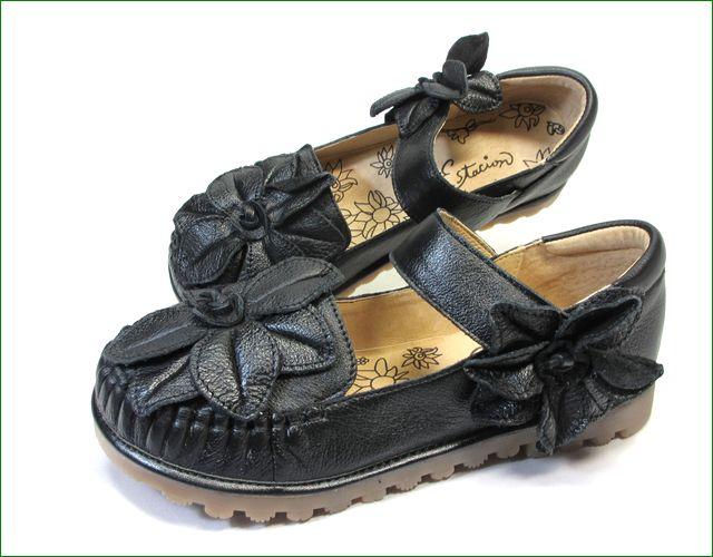エスタシオン靴  estacion etn237813bl ブラック全体画像