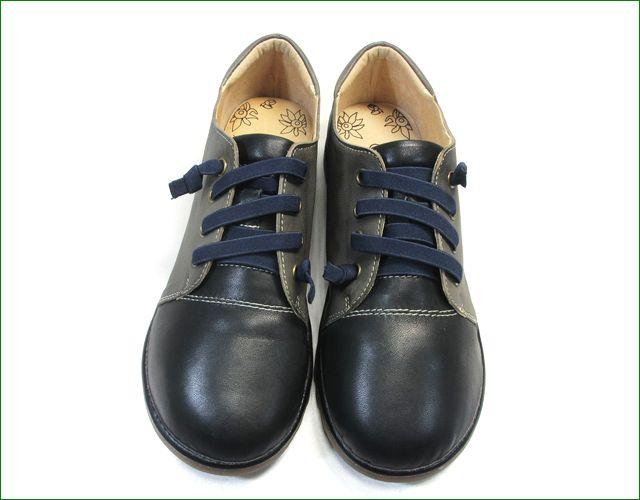 エスタシオン靴  estacion etn237821bl 黒グレイ  アップ画像