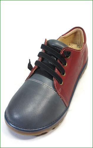 エスタシオン靴  estacion etn237821gy グレイワイン 左靴の画像