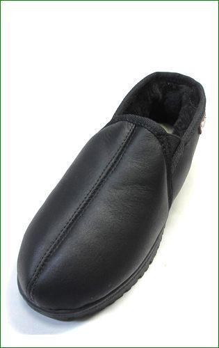 エスタシオン靴  estacion etn808bl 黒 左靴の画像