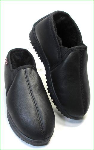 エスタシオン靴  estacion etn808bl 黒 全体の画像