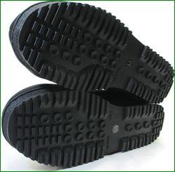 エスタシオン靴  estacion etn808bl 黒  カカトの画像