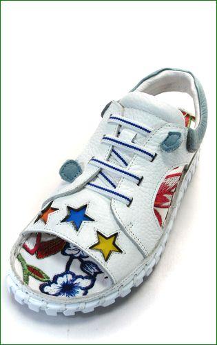 エスタシオン靴  estacion etn901iv アイボリー 左靴の画像