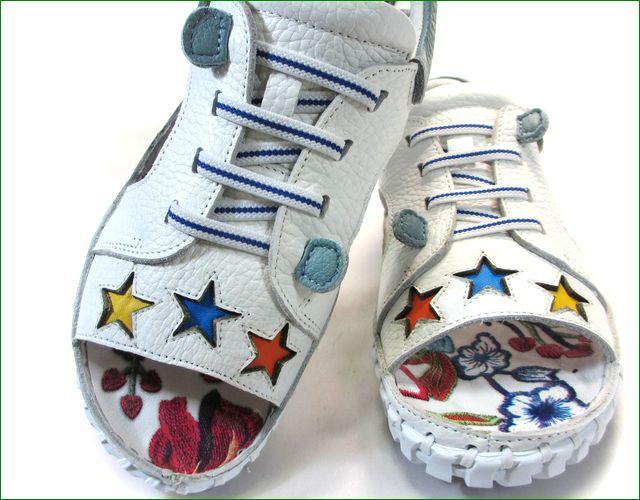 エスタシオン靴  estacion etn901iv アイボリー 小花アップ画像