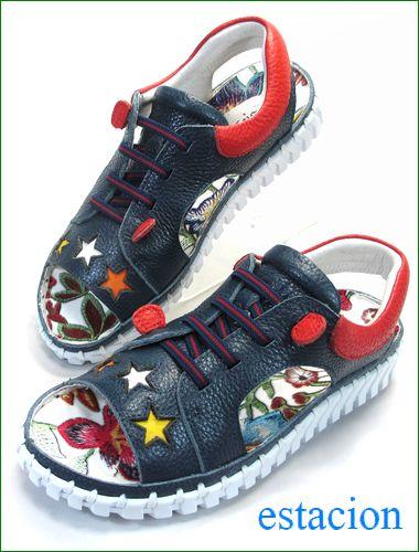 エスタシオン靴  estacion etn901nv ネイビー 全体の画像